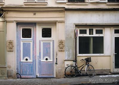 Blue Doors & Bicycle