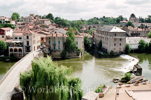Clisson - View of Village from Castle