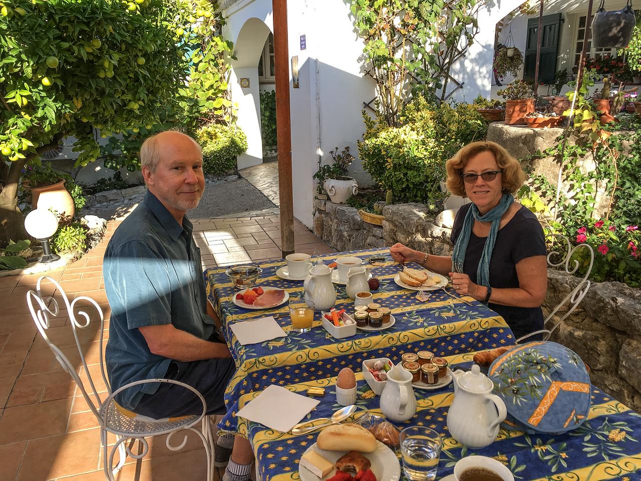 Breakfast at Le Hameau Hotel