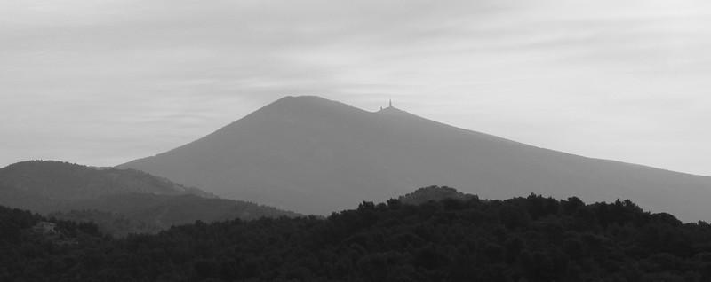 Mont Ventoux seen from Vaison-la-Romaine