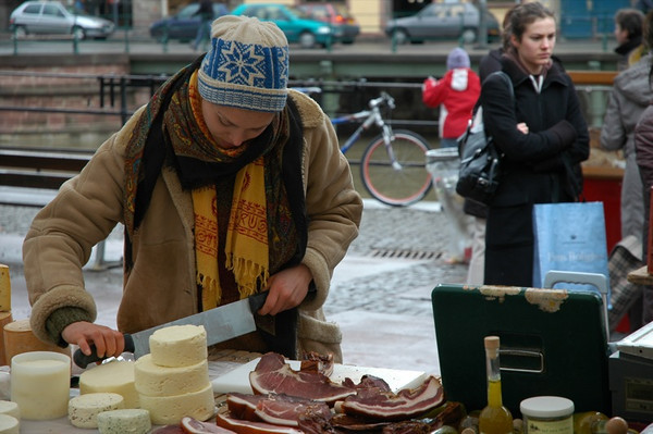Cheese at the Market of the Suckling Pig - Strasbourg, France