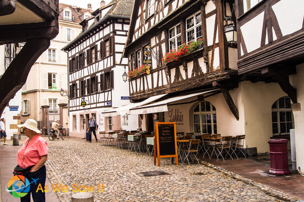 Quaint Half-timbered house of Strasbourg, France.