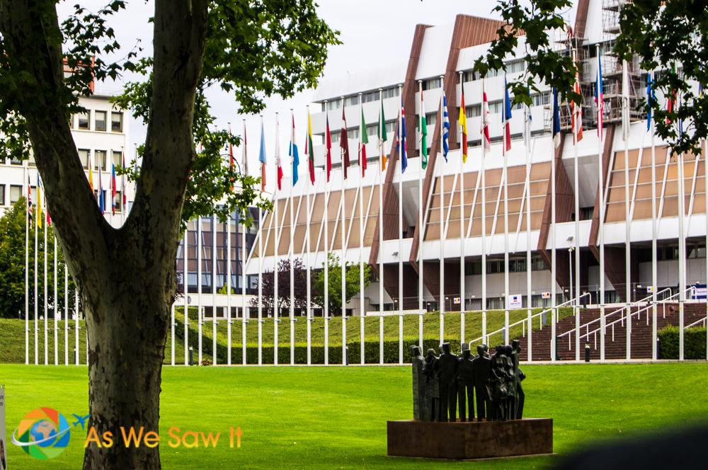 The European Parliament Building, Strasbourg, France.