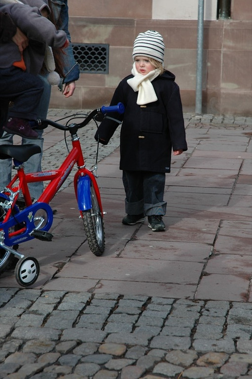 Cute Kid with a Bike - Strasbourg, France