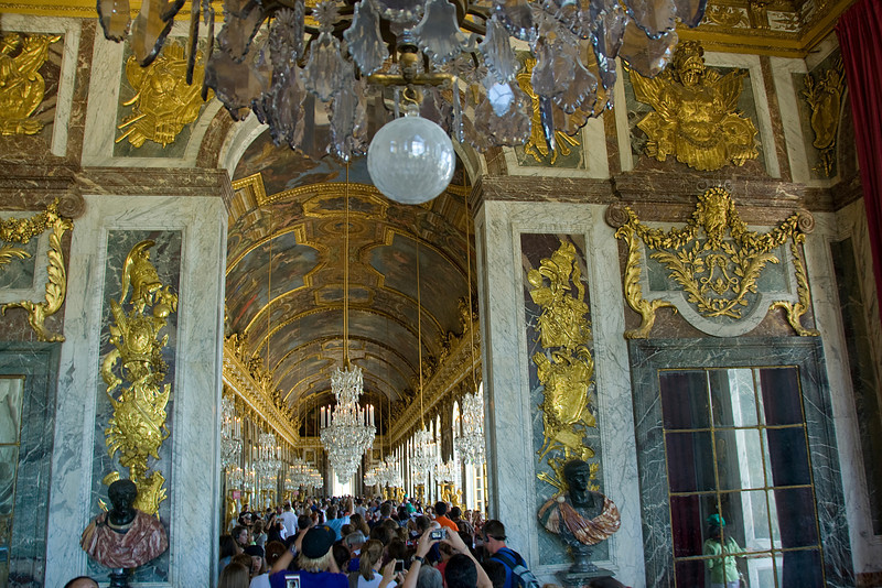 Inside the Versailles Palace in France