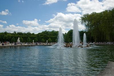 The Apollo fountain in Chateau de Versailles in France