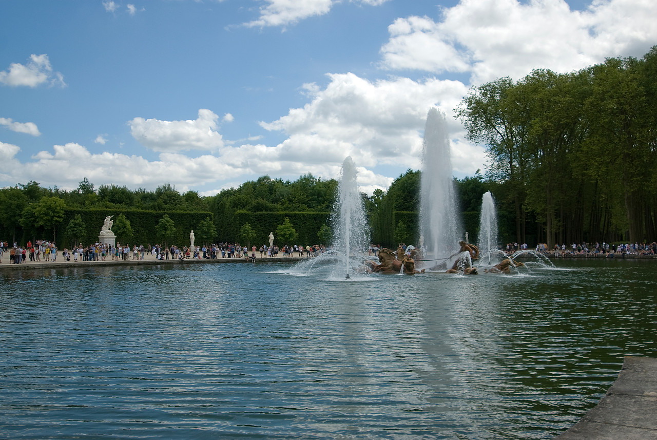 The Apollo fountain in Chateau de Versailles in France