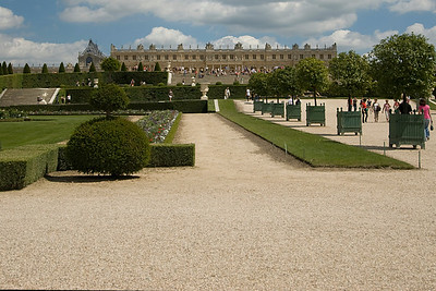 The garden park outside Chateau de Versailles - France