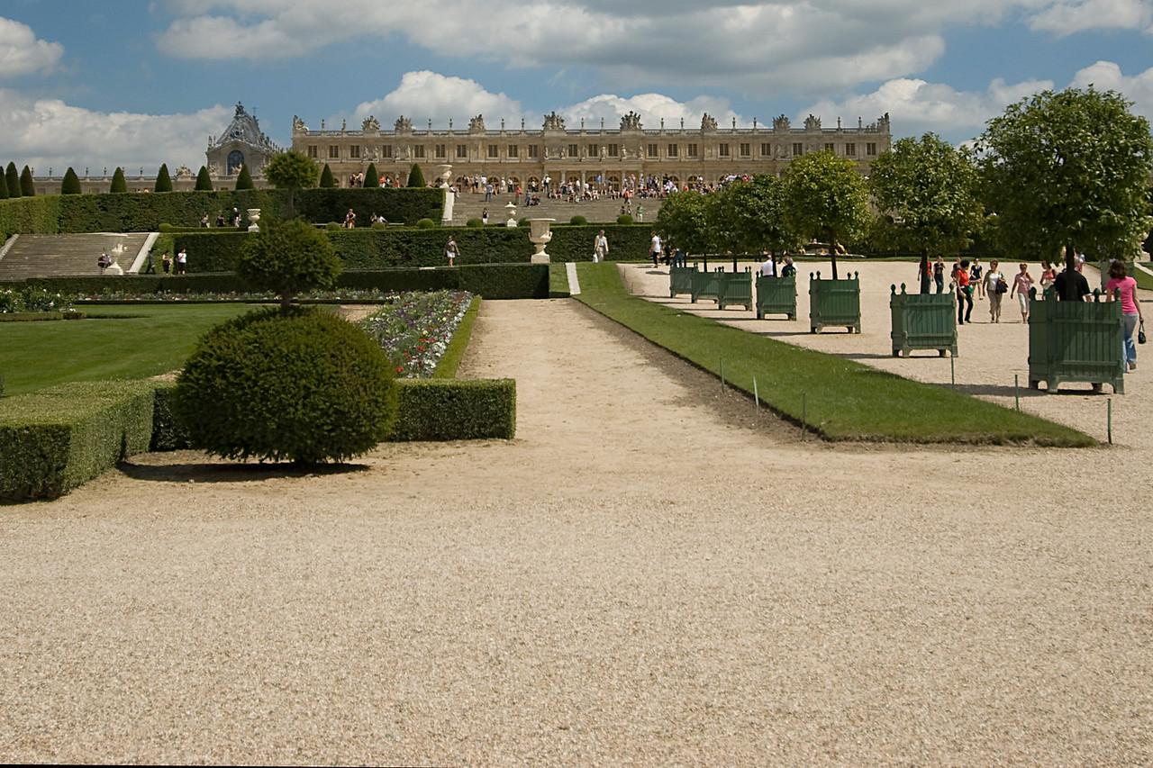 The garden park outside Chateau de Versailles - France