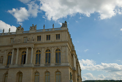 Side profile of the Versailles Palace in France