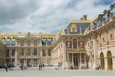 Outside the Versailles Palace in Versailles, France