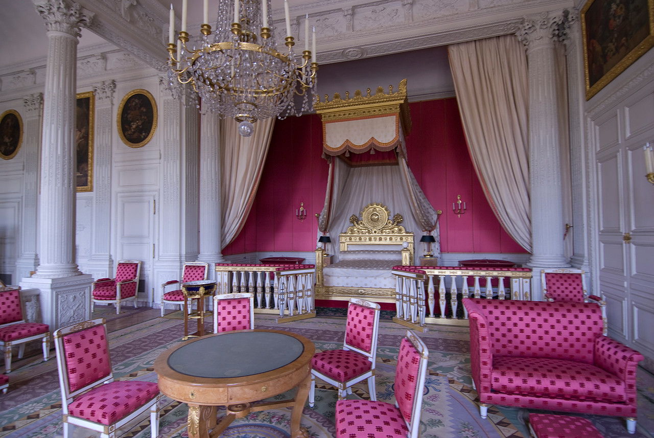 The Empress's bedroom, the Grand Trianon in Versailles Palace - France