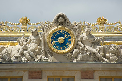 Details on the roof of Versailles Palace - Versailles, France