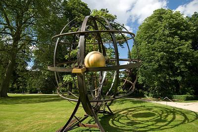 Modern art installation in the Gardens of Versailles, France