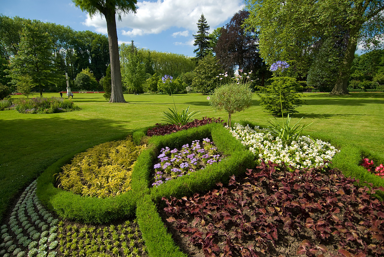 Beautiful flora and landscape at Versailles France Gardens