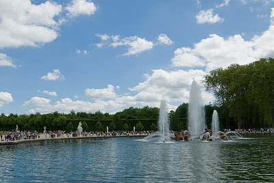 The Apollo fountain in Gardens of Versailles, Place d'Armes - Versailles, France