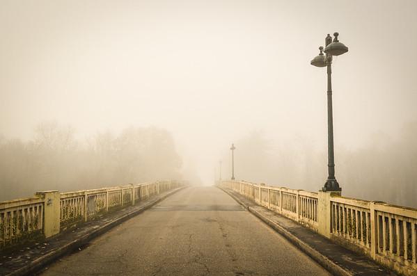 Bridge on the Loire river
