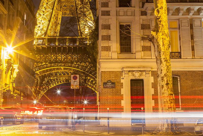 The Eiffel Tower, Paris, France.