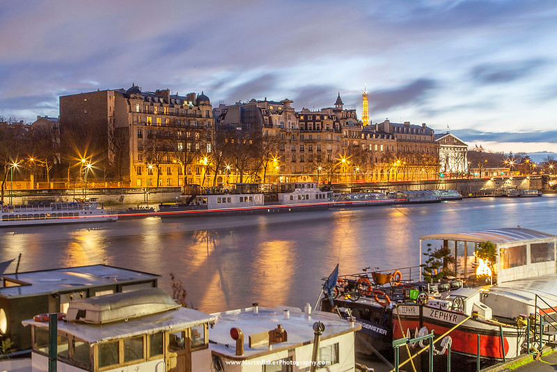 The Eiffel Tower and River Seine, Paris, France.