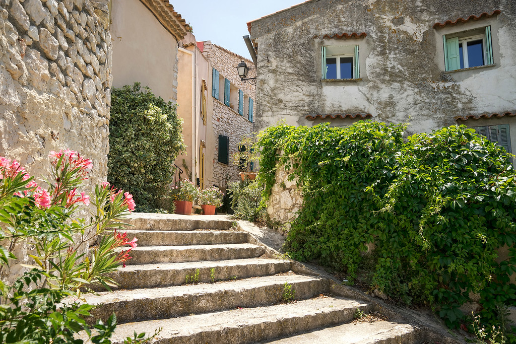 typical provence staircase in ventabren