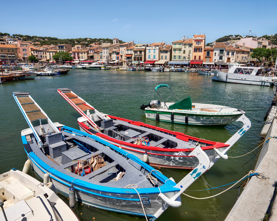 fishing boats in cassis provence france