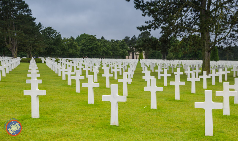 A Field of Crosses at the Normandy American Cemetery and Memorial (©simon@myeclecticimages.com)