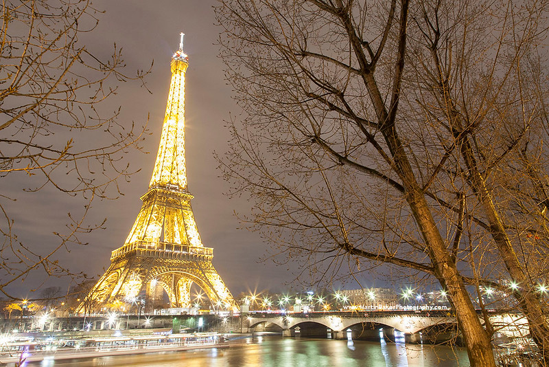 The Eiffel Tower and River Seine, Paris, France.
