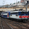 17012 propels its train out of Paris St Lazare on January 1st 2008.