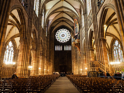 Inside Strasbourg Cathedral