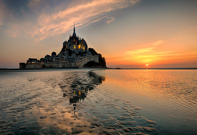 Tide Out at Mont St Michel
