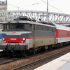 16005 propelling the stock from the Berlin/Hamburg Sleeper out of Paris Gare du Nord on the 1st January 2008.