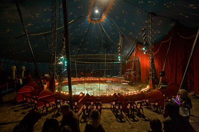 Circus Ring Italian Traveling Circus, Limoux, France 2010