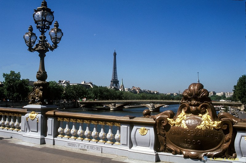 Pont Alexandre 111 Bridge - Built 1897<br /> Paris, France