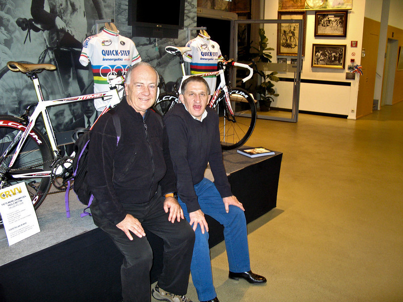 Centrum Ronde van Vlaanderen, Oudenaarde.<br /> Yours truly alongside Freddy Maertens, Director of Entertainment and Public Relations at the Centrum. <br /> Freddy was World Road Champion in 1976 and 1981.