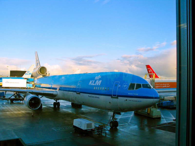 The KLM Mother Theresa at Schipol Airport in Amsterdam, Netherlands