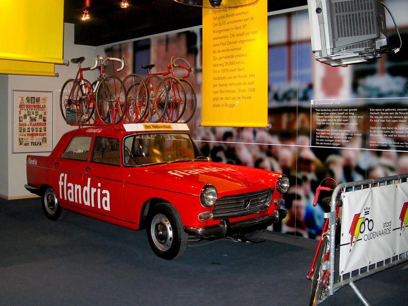 Flandria team car in the Centrum Ronde van Vlaanderen, Oudenaarde.