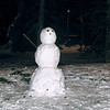 Snow man in Citadel Park, Gent.