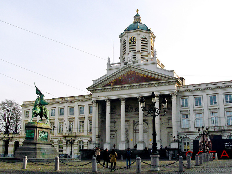 Place Royale with equestrian statue of King Leopold I - Brussels.