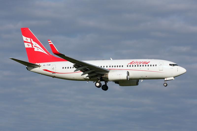 "4L-TGM Boeing 737-76N ""Air Zena"" c/n 29904 Amsterdam/EHAM/AMS 21-06-14"