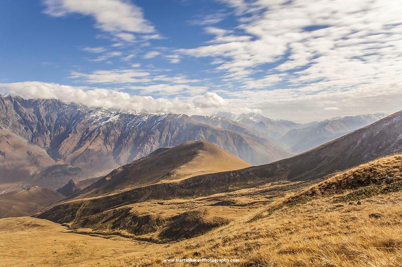 Caucasus Mountains, Stepantsminda, Georgia.