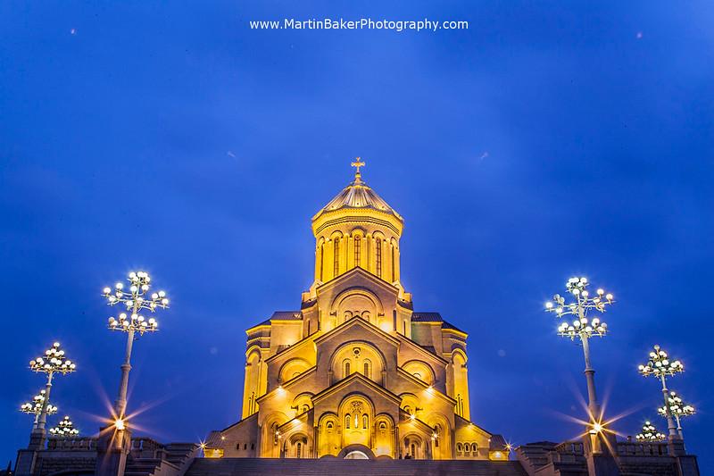 Tsminda Sameba Cathedral, Tbilisi, Georgia.
