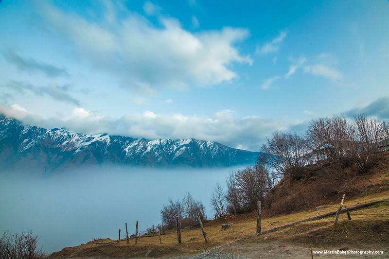 Kazbegi National Park, Stepantsminda, Caucasus Mountains, Georgia.