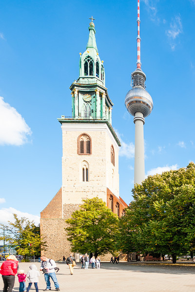 Marien Kirche - Oldest church in Berlin. This church survived the war without damage, athough the surrounding area was completely devastated.