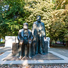 """Monument of Karl Marx and Friedrich Engels - a survivor of the GDR era. The Berliners call it """"The Two Pensioners""""."""