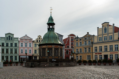 Wismar - Market Place with central water supply.