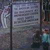 A sign at The Wall by Yadegar Asisi