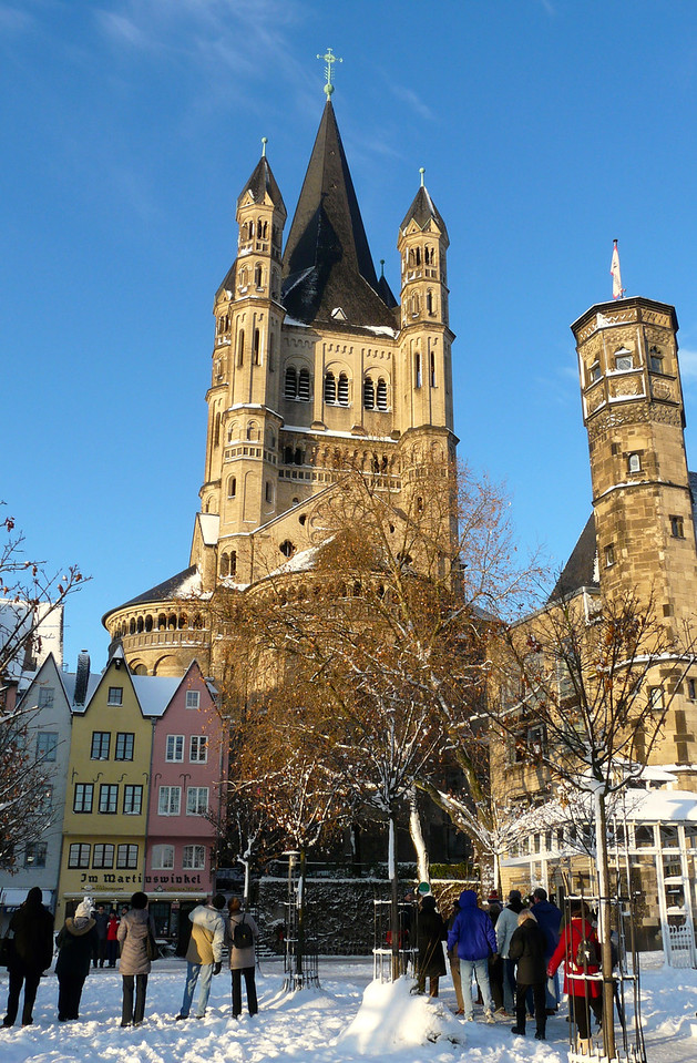 Enjoying a walking tour of Cologne, Germany, on a Rhine River Christmas Markets cruise.