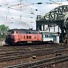 A class 218 arriving at Koln Hbf.