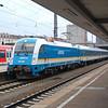 Arriva-Länderbahn-Express (ALEX) 183 004 at München Hauptbahnhof.