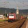 Crossrail 185 601 heads an intermodal through Boppard Hbf.